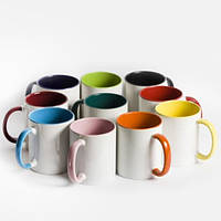 Чашка для сублимации цветная внутри Big