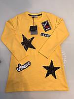 Детское платье-туника желтого цвета