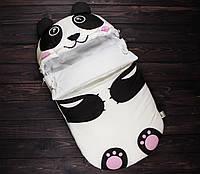"""Демисезонный конверт  для новорожденного """"Панда"""""""