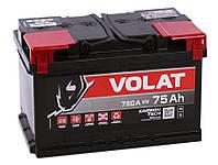 Аккумулятор автомобильный VOLAT - 75A +прав (LB3) (750 пуск)