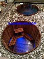 Офуро - джакузи деревянное с гидромассажем, подогревом и подстветкой