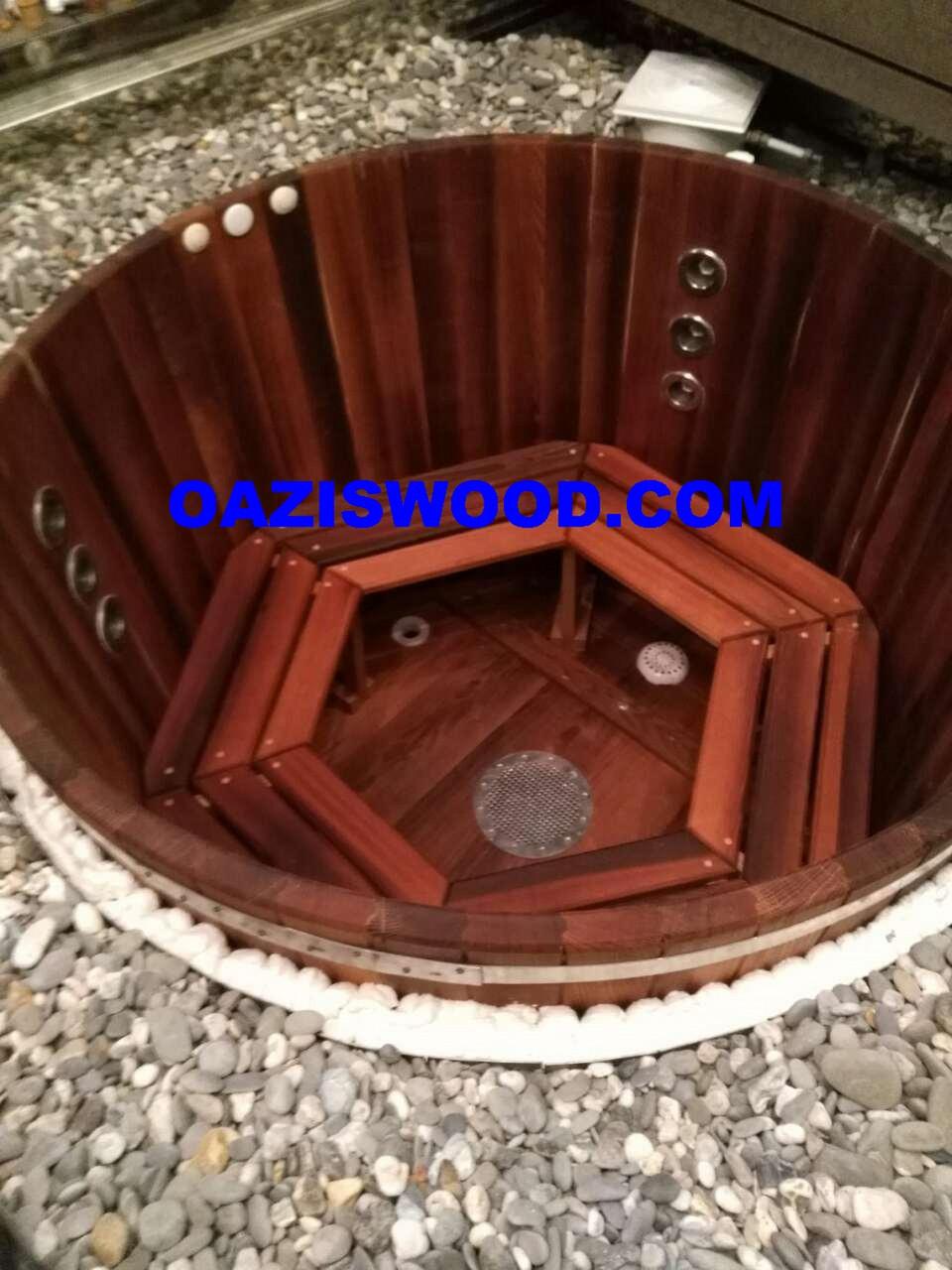 Купель - джакузи деревянное с гидромассажем, подогревом и подстветкой