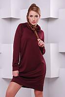 Бордовое   женское  платье Stripe  FashionUp 42-48  размеры