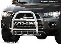 Защита переднего бампера Mitsubishi Outlander XL 2010-2012 (п.к. RR04)