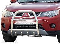 Защита переднего бампера Mitsubishi Outlander XL 2007-2010 (п.к. RR04)