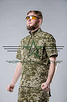Рубашка с коротким рукавом (шведка) пиксель  летняя