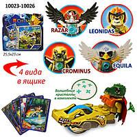 Конструктор Legends of Chima 10023-10026 120шт2 4 вида на планшетке 23254 см