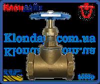 Вентиль латунный PN 16 для воды t75С резьба соединения В х Н 2