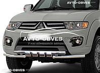 Защита переднего бампера модельная для Mitsubishi Mitsubishi Pajero Sport 2008-2016