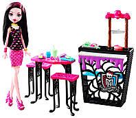 Набор Дракулаура и Кафе Крипатерия, пальчики откусишь, Monster High Beast Bites Cafe Draculaura Doll & Playset