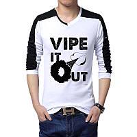 Vipe It Out - Футболка Мужская с длинным рукавом (лонгслив) с Дизайном