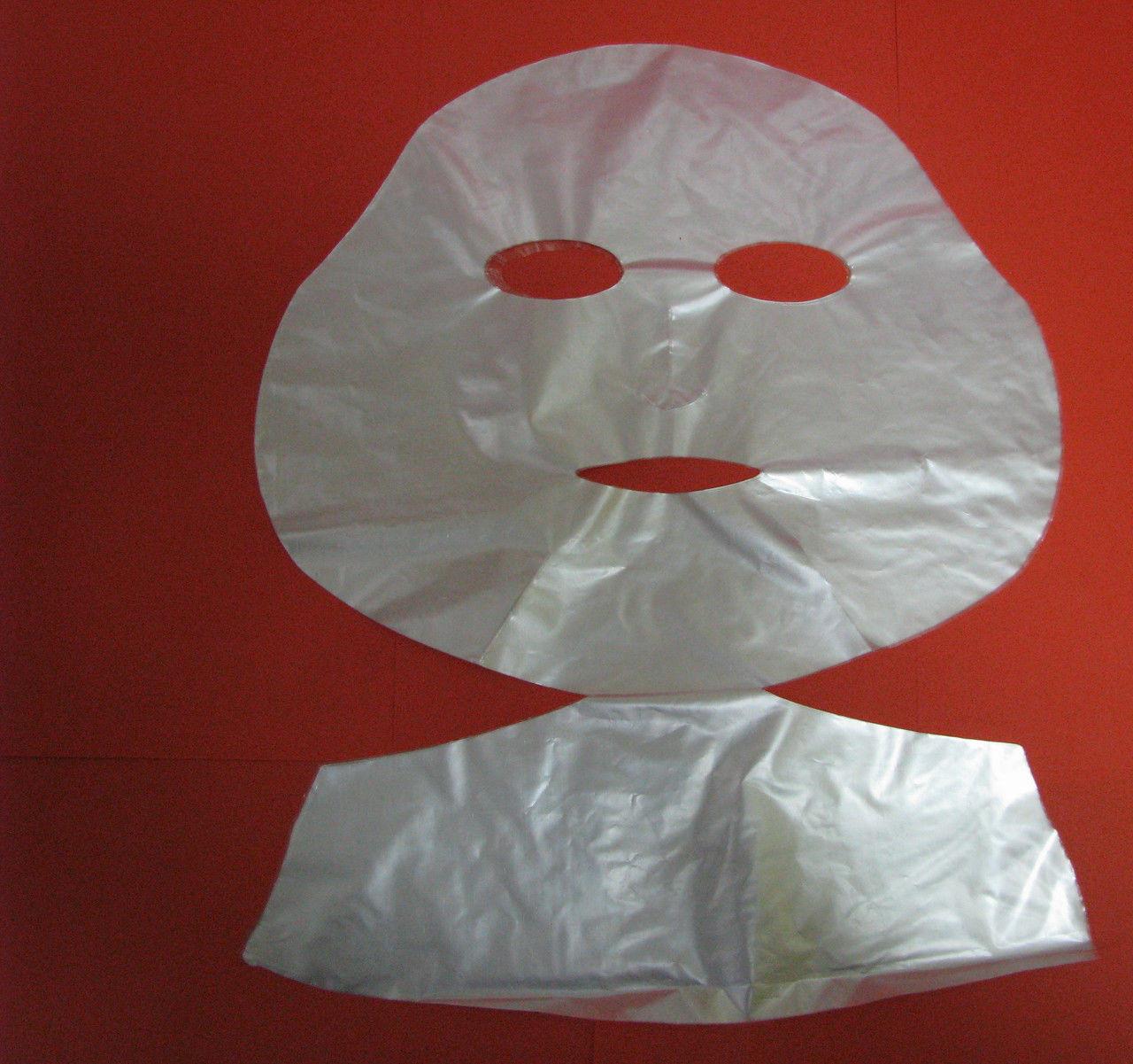 Одноразовая маска косметическая с воротом ,полиэтилен 100шт