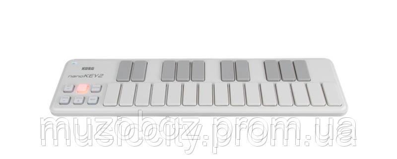 Korg nanoKEY2 WH USB/MIDI клавиатура, 25 динамических клавиш