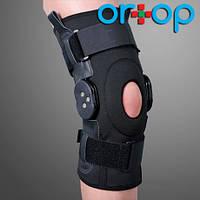 Бандаж на коленный сустав со специальными шарнирами для регулировки угла сгибания