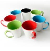 Чашка для сублимации Латте цветная внутри