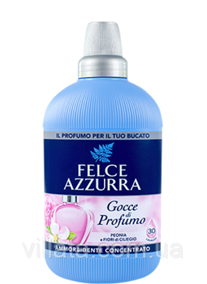 """Ополаскиватель концентрированный """"Пион-Цветы вишни"""" Felce Azzurra 750 ml Италия 30 стирок"""