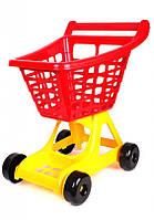 Детская Тележка для супермаркета большая тм Технок пластик Украина