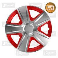 Колпаки колесные Esprite silver&red( к-т 4шт.) R13,R14,R15,R16.