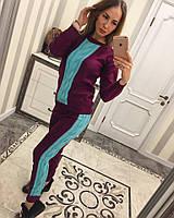 Женский стильный вязаный двухцветный костюм (4 цвета), фото 1