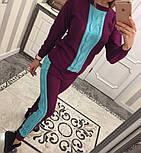 Женский стильный вязаный двухцветный костюм (4 цвета), фото 2