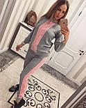 Женский стильный вязаный двухцветный костюм (4 цвета), фото 3