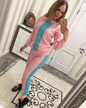 Женский стильный вязаный двухцветный костюм (4 цвета), фото 5
