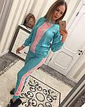 Женский стильный вязаный двухцветный костюм (4 цвета), фото 6