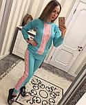 Женский стильный вязаный двухцветный костюм (4 цвета), фото 7