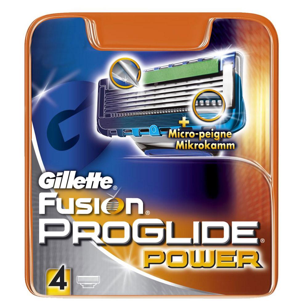 Картриджи Gillette Fusion ProGlide Power 4's (четыре картриджа в упаковке)