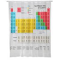 Шторка для душа ванной Периодическая таблица Менделеева из сериала Теория Большого Взрыва