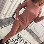 Женский модный теплый костюм из ангоры с эфектными плечкам (5 цветов), фото 2
