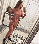 Женский модный теплый костюм из ангоры с эфектными плечкам (5 цветов), фото 3