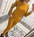 Женский модный теплый костюм из ангоры с эфектными плечкам (5 цветов), фото 4