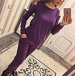 Женский модный теплый костюм из ангоры с эфектными плечкам (5 цветов), фото 6