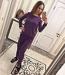 Женский модный теплый костюм из ангоры с эфектными плечкам (5 цветов), фото 7