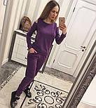 Женский модный теплый костюм из ангоры с эфектными плечкам (5 цветов), фото 8