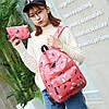 """Школьный рюкзак с пеналом """"Разноцветные треугольники"""", фото 2"""