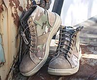 Летние тактические ботинки из гидрофобного нубук - Гайдамак мультикам