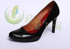 Женские удобные туфли на каблучке 36,37,39 размер