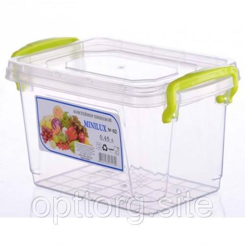 Контейнер пластиковый Minilux №3 0.45 л, Ал-Пластик, Арт.: 13