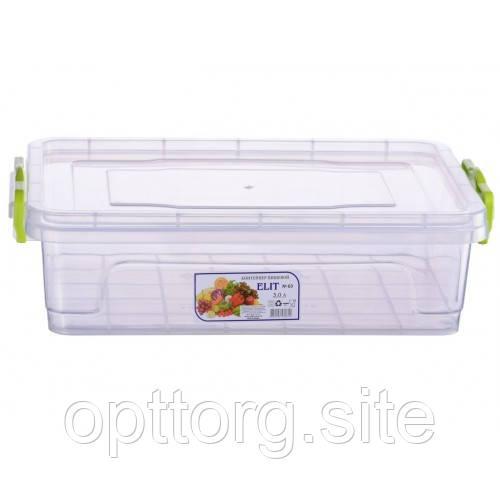 Контейнер пищевой плоский Elit №3 3 л, Ал-Пластик, Арт.: 17