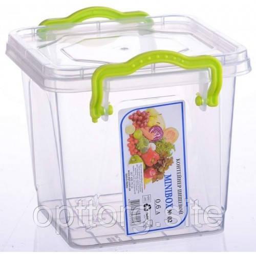 Контейнер пластиковый Minilux №4 0.6 л, Ал-Пластик, Арт.: 14