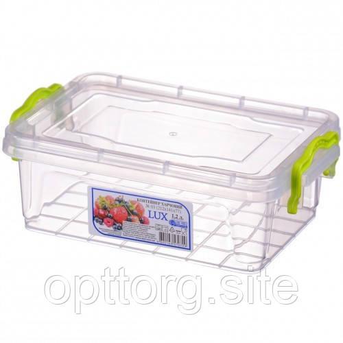Контейнер пищевой Lux №3 1.2 л, Ал-Пластик, Арт.: 36