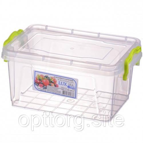 Контейнер пищевой Lux №4 1.5 л, Ал-Пластик, Арт.: 37
