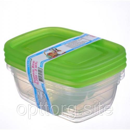 Контейнер пластиковый Econom box 0.75 л -3шт, Ал-Пластик, Арт.: 54