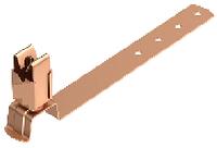 H08/17. Тримач дроту Ø8 мм під черепицю оміднений St/Cu (308 177)