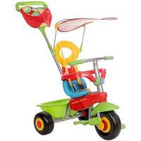 Детский трехколесный велосипед Fresh 3в1 зеленый/красный