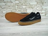 Кеды Vans Old School черные с белым (вансы олд скул) 36