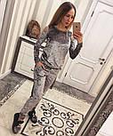 Женский модный костюм из мраморного велюра (4 цвета), фото 5