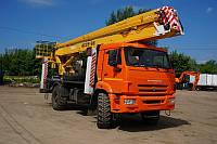Аренда транспорта КАМАЗ с локтевой автовышкой
